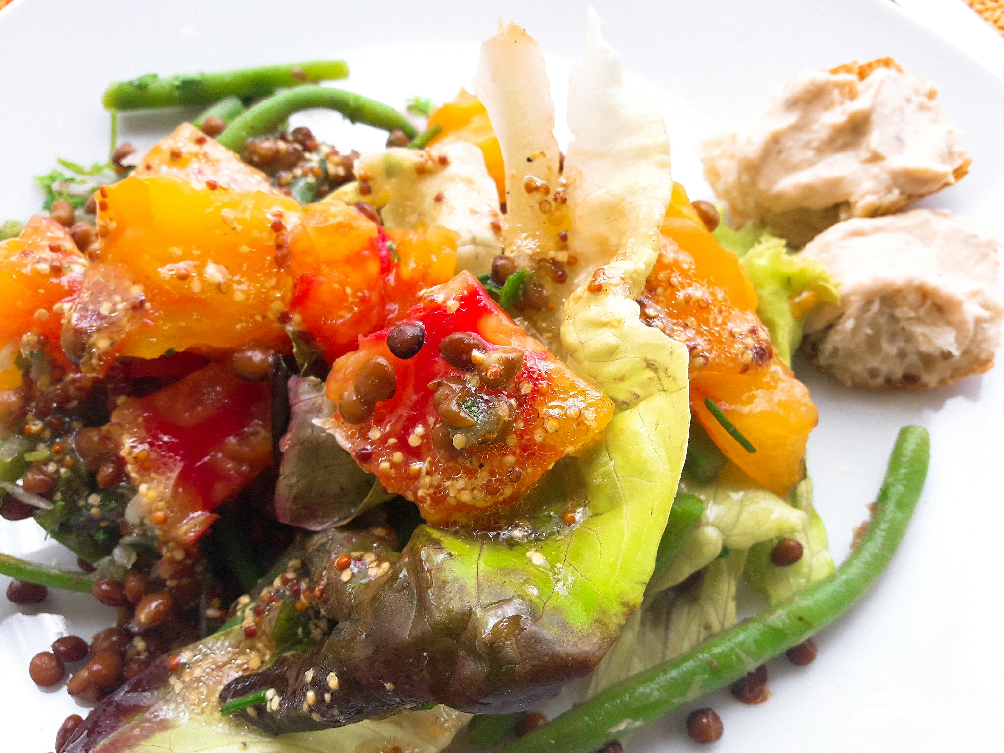 salade lentilles-tomates-haricots verts 3